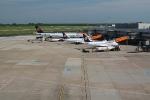 Parkende Lufthansa-Maschinen