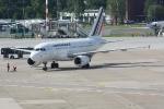 Eine Maschine von Air France in der Parkposition