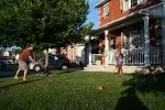 Baseball im Vorgarten