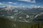 Blick auf Banff und Umgebung