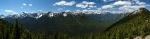 Westlicher Blick vom Sulphur Mountain