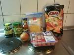Überbackene Tortillas - Zutaten