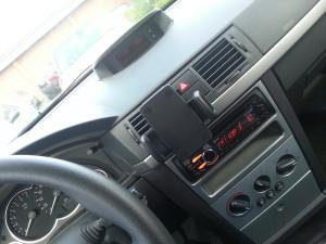 Gesamtansicht Radio, Mikro und Handyhalter
