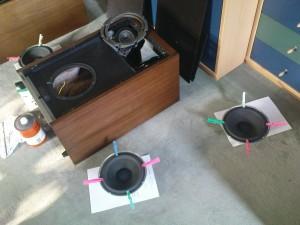 Zentrierung mit Wäscheklammern
