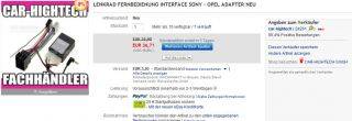 Lenkradfernbedienungsinterface für Opel - Sony