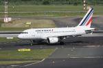 Eine Maschine von Air France auf dem Rollfeld