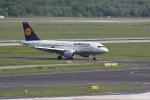 Eine Lufthansamaschine nach der Landung