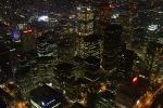 Blick auf das Bankenviertel Torontos aus dem CN-Tower bei Nacht