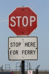STOP HERE FOR FERRY