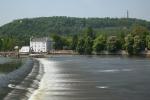 Die Moldau kurz vor der Karlsbrücke