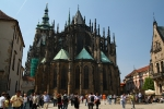 Der Veitsdom in Prag (Rückansicht)
