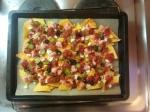 Überbackene Tortillas - Chilisauce